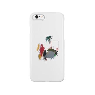 palm tree スマートフォンケース