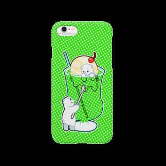 侑紀のシロクマとメロンクリームソーダ Smartphone cases