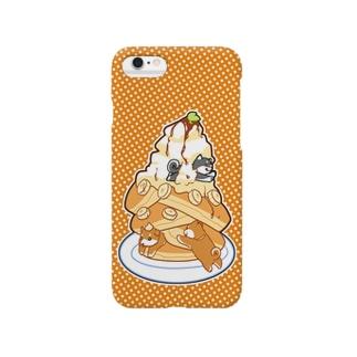 柴犬とチョコバナナパンケーキ Smartphone cases