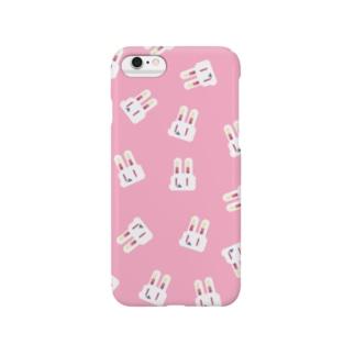 ドットウサちゃん(ピンク) Smartphone cases