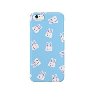 ドットウサちゃん(ブルー) Smartphone cases