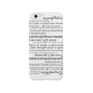 格言スマホカバー White.ver Smartphone cases