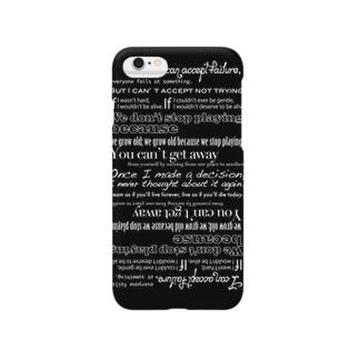 格言スマホカバー Black.ver Smartphone cases