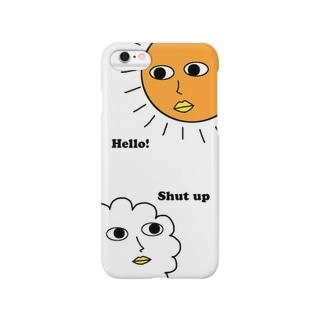 こんにちは!だまれ! Smartphone cases
