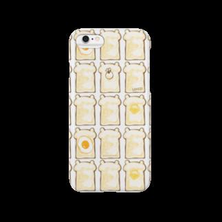 栄香@ぶちゃくま。 のぶちゃくま。食パンぎっしり Smartphone cases