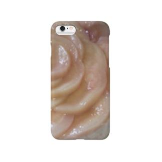 桃のケーキ Smartphone cases