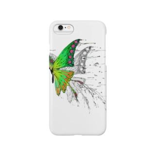 蝶々01カラー Smartphone cases