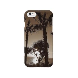 遠くの島のやし Smartphone cases