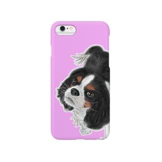 キャバリア№01 トライカラーピンク Smartphone cases