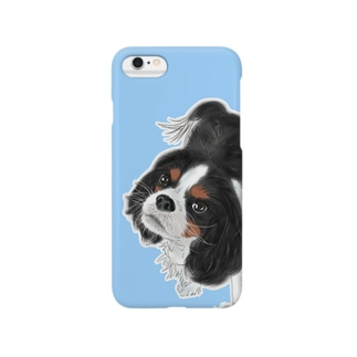 キャバリア№01 トライカラー青 Smartphone cases