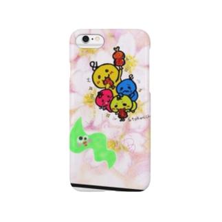 春のワカメコラボ Smartphone cases