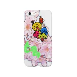 春の桜バージョンワカメコラボ Smartphone cases