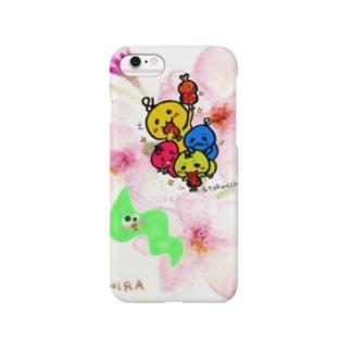 春の桜バージョンわかめこらぼ! Smartphone cases