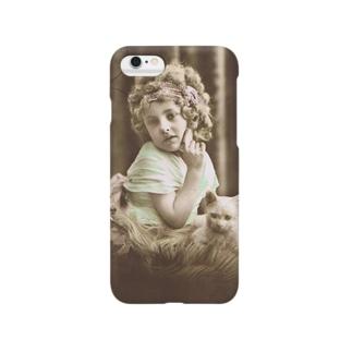 マドモワゼルと猫 Smartphone cases