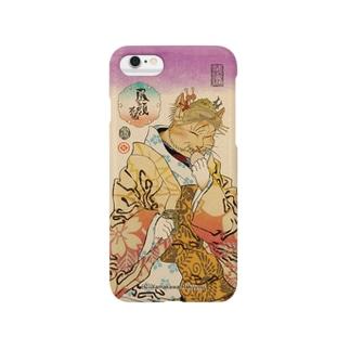 猫浮世絵シリーズ 昼顔花魁 スマートフォンケース Smartphone cases
