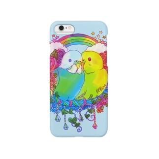 ラブラブセキセイちゃん Smartphone cases