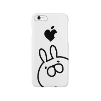 モノクロレプゥー ホワイト Smartphone cases