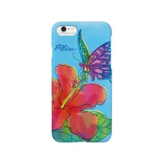 蜜を吸うアゲハ蝶 Smartphone cases