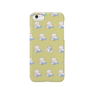 くま吉と魚田くん Smartphone cases
