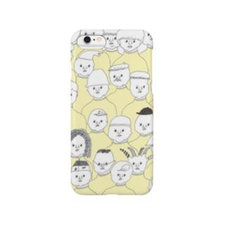 黄色ハイネックの会 Smartphone cases