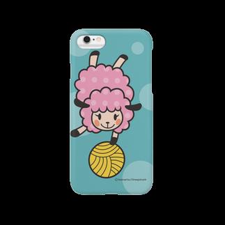 sheepshankのヒツジのユイユイ(Blue) Smartphone cases