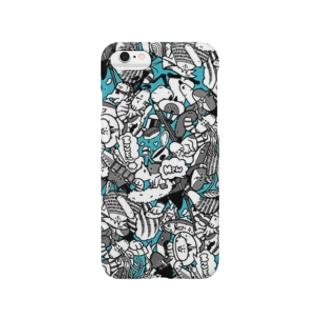 ごっちゃり(ブルー) Smartphone cases