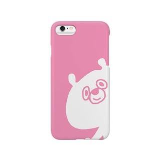 くま(ぴんく) Smartphone cases