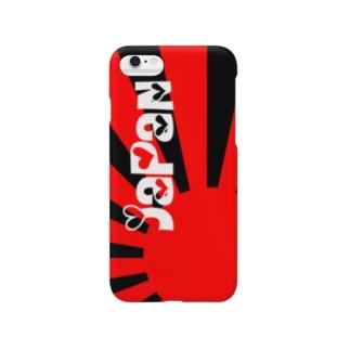 I♡ JAPAN (赤/黒) Smartphone cases