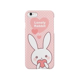 寂しがりうさぎ(ハート) Smartphone cases