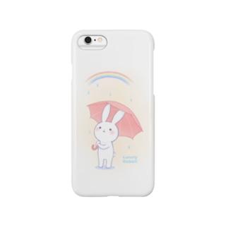 寂しがりうさぎ(雨のち晴れ) Smartphone cases