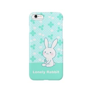 寂しがりうさぎ(クローバー) Smartphone cases