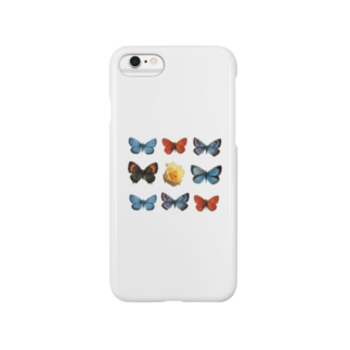 Rose in Butterflies Smartphone cases