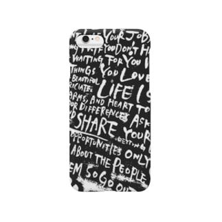 フリーハンド文字 Smartphone cases