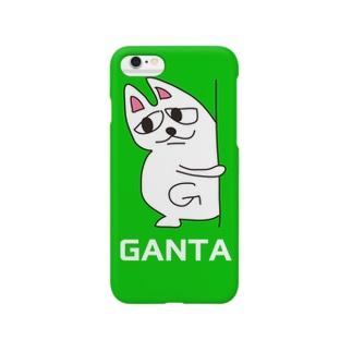 がんたのiphoneケース(チラッ)  Smartphone cases