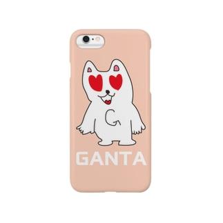 がんたのiphoneケース(ハート) Smartphone cases