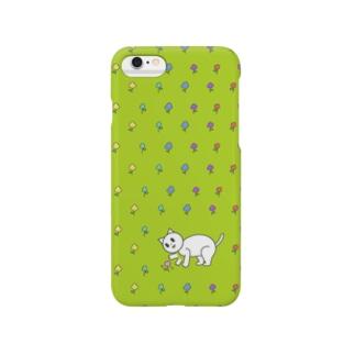 かわいいネネココ{お花が気になるの} Smartphone cases
