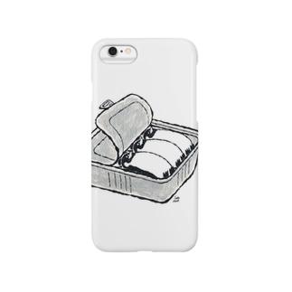 ペンギンCAN(白) Smartphone cases