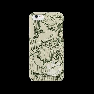 倫会の穴あきニットセーターキツネさん Smartphone cases
