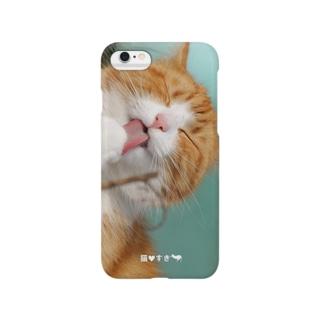 ぺろりん猫 Smartphone cases