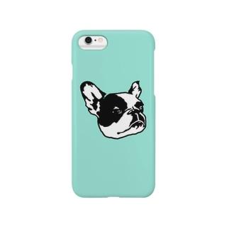 眠いフレブルちゃん(ブルー) Smartphone cases