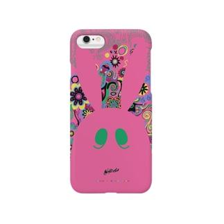 冥土の兎 中紅の顔編 Smartphone cases