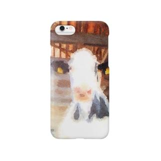 水彩画風乳牛 Smartphone cases