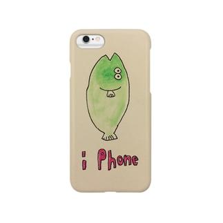 おさかな 緑 Smartphone cases