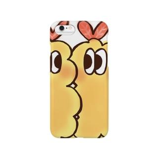 にじいろ☆うしゃぎのOSOZAI!!-オソーザイ!!-(エビ白) Smartphone cases