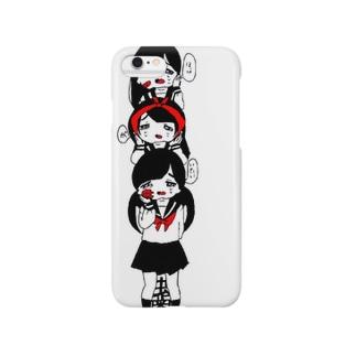 虫歯のガール Smartphone cases