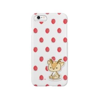 ボク鹿*strawberry スマートフォンケース Smartphone cases
