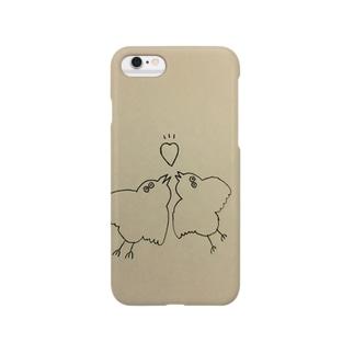 つがい 白黒 Smartphone cases