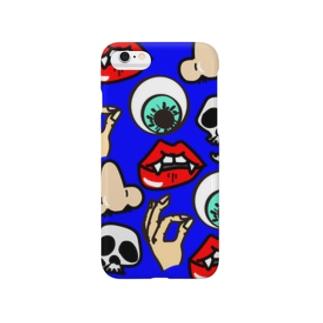 パーツ(ブルー) Smartphone cases