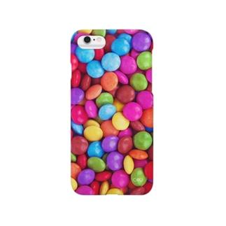 #002 おはじきチョコレート Smartphone cases