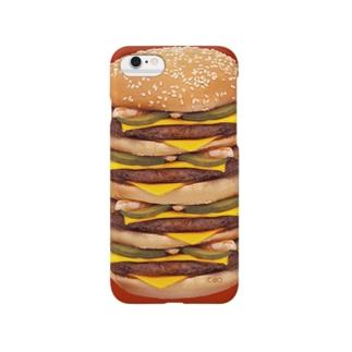 #007 大きなチーズバーガー Smartphone cases